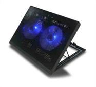 Cooler Ventilador Laptop Base Enfriadora Reclinable 2 Coolers