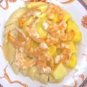 08. Antipasto di Gamberi con Frutta