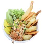 Sushi bowl tempura