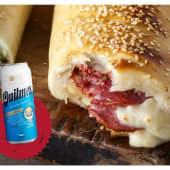 Promo Strombolis c/lata de Quilmes