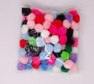 Bolitas Suaves Blisterx100Un Varios Colores 20Mm