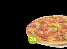 SUPER TRIO: 3 x Pizza duża – 26.99 zł / szt