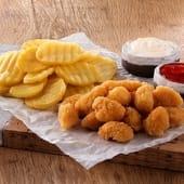 Çıtır Tavuk Topları (100 gr.) + Fırınlanmış Patates (200 gr.)