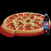 Büyük Boy Pizza + Litrelik İçecek