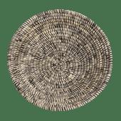 Black/White Straw Weaved Basket