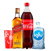 Johnnie Walker Red 750 Ml + Coca Cola 1.5 Lt. + Hielo 1.5 Kg
