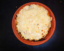 Pizza entera fugazzeta rellena (solo masa alta)