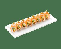 Ролл Креольский со свежим лососем и авокадо (300г)