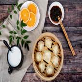 Empanadilla (estilo shanghai) relleno de secreto ibérico al vapor