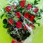 Ramo de rosas en modo de pala