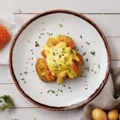 Patata con salmón