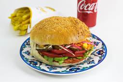 Meniu Hamburger Pui - Bautura + Cartofi