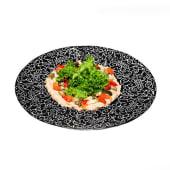 Класичний хумус з печеними овочами і тостами