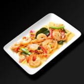 Crevettes au curry Panan et lait de coco
