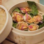 Dumpling de brandada y trufa (ración)