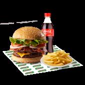 Maxi combo súper Sandry - hamburguesa con doble carne, queso..