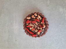 Tartaletka wegańska z czekoladą deserową/Vegan tartlet