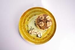 Panquecas Manteiga Amendoim e Banana