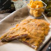 Relleno de jamón y queso cabrales con pimientos del piquillo