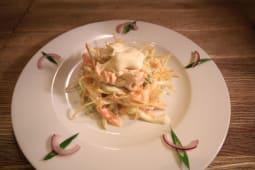 Салат из филе сёмги с овощами