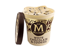 Tarrina Magnum white chocolate & cookies (440 ml.)