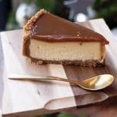 Cheesecake de caramelo salado (ración)