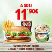 Whopper Menù + B&J's  Cookie Dough 100 ml