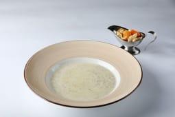 Суп из белых грибов и шампиньонов со сливками