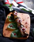 Рулети з баклажанів з начинкою з волоського горіха (220г)