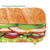 Sub Carved Turkey con Aguacate