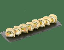 Гарячий рол з лососем і вугрем (240 г)