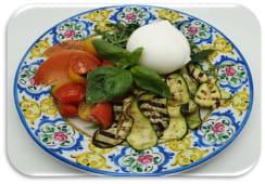Bufala e verdure alla brace+Pane -Bufala dop da 230gr per due persone-
