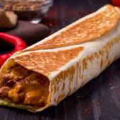 Menú burrito chile con carne