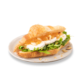Croissant kozi ser & konfitura z pomarańczy