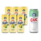 6X Ciuc Radler  Lamaie si Lime FARA ALCOOL + 1X Ciuc Premium doza