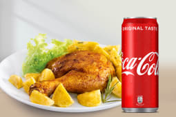 Mezzo pollo arrosto + Coca-Cola