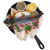 Скумбрія з соусом Цванелі (1шт)