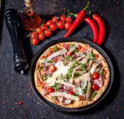 Pizza Prosciutto crudo, grana, rucola