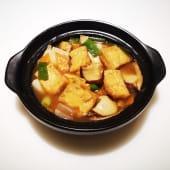 Tofu con bambý y shitake fresco