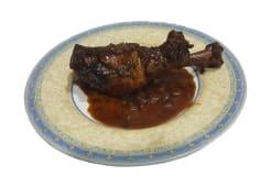 Muslo de pavo en salsa