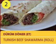 Durum doner - ET - Turkish beef shawarma roll 100gr