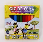 Crayones Colores Cortos Delgados Jgox12Un Cja Carton 9012
