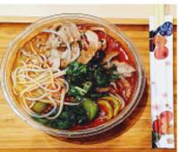 S4-Spaghetti di riso in brodo con Manzo e verdure