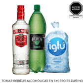 Smirnoff Red 750 Ml + Evervess 1.5 Lt + Hielo 1.5 Kg