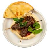 Люля-кебаб з хумусом, пітою і соусом Чімічурі (320г)