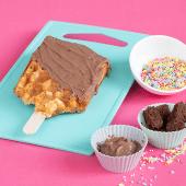 Waffle con crema de chocolate y leche