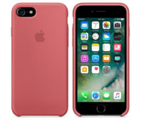 Coque Original Apple en silicone Rose Camélia