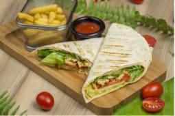 Сэндвич-ролл со шпинатом и сыром