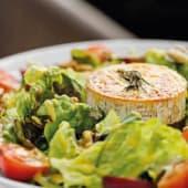 Salada de Queijo de Cabra gratinado