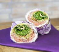 Salmon crunch wrap